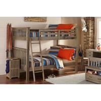 NE Kids Highlands Collection Driftwood Full-over-Full Harper Bunk Bed