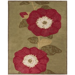Martha Stewart by Safavieh Hollyhock Dill Wool/ Cotton Rug (9' x 12')