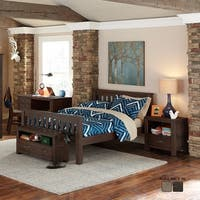 NE Kids Highlands Collection Espresso Full Harper Bed