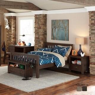 NE Kids Highlands Collection Espresso Full Harper Bed