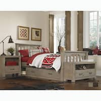 Highlands Collection Wood Driftwood Twin Harper Bed
