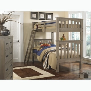 Highlands Collection Grey Wood Twin over Twin Harper Bunk