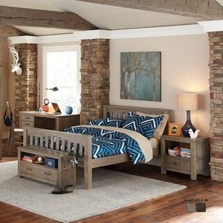 NE Kids Highlands Collection Harper Grey Driftood Finish Full-size Bed