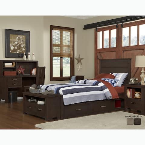 NE Kids Highlands Collection Alex Espresso Twin Panel Bed