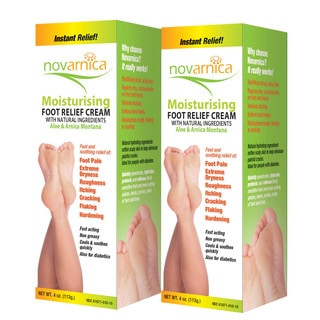 Novarnica 4-ounce Moisturizing Foot Cream (Pack of 2)