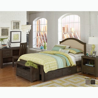 Highlands Collection Full-Size Bailey Espresso Upholstered Bed