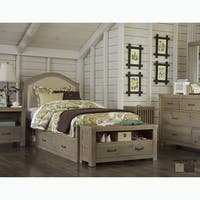 Highlands Collection Bailey Driftwood Upholstered Twin Bed