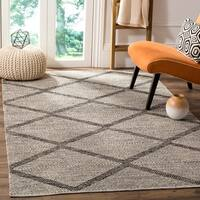 Safavieh Montauk Hand-Woven Flatweave Diamond Black/ Ivory Cotton Rug - 8' X 10'