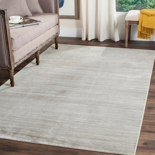 Safavieh Mystique Watercolor Slate Grey Distressed Silky Polyester Rug (8' x 10')