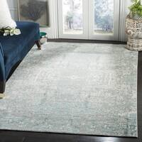 Safavieh Mystique Watercolor Teal/ Multi Silky Rug - 10' x 13'