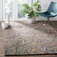 Safavieh Handmade Nantucket Abstract Multicolored Cotton Rug (9' x 12')
