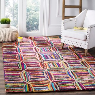 Safavieh Handmade Nantucket Abstract Multicolored Cotton / Jute Rug (9' x 12')