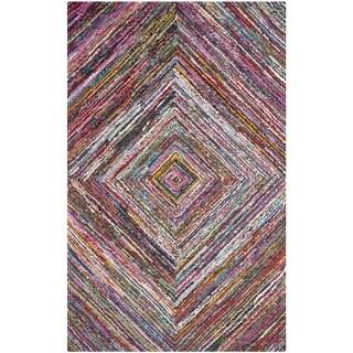 Safavieh Handmade Nantucket Abstract Multicolored Cotton Rug (10' x 14')