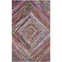 Safavieh Handmade Nantucket Abstract Multicolored Cotton Rug - 10' x 14'