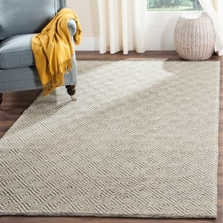 Safavieh Handmade Natura Southwestern Ivory Light Grey Wool Cotton Rug 8 X