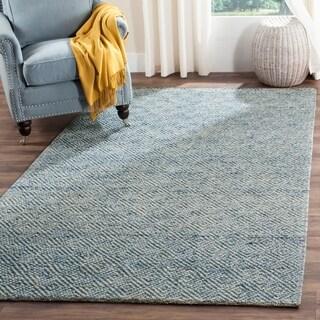 Safavieh Handmade Natura Southwestern Blue Wool / Cotton Rug (8' x 10')