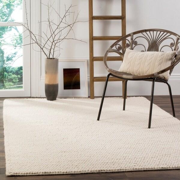 shop safavieh handmade natura ivory wool cotton rug 8 x 10 rh overstock com