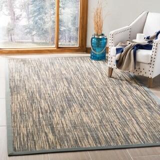 Safavieh Hand-Woven Natural Fiber Natural / Grey Sisal Rug (9' x 12')