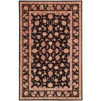 Safavieh Handmade Persian Court Beige / Black Wool / Silk Rug - 9' x 12'