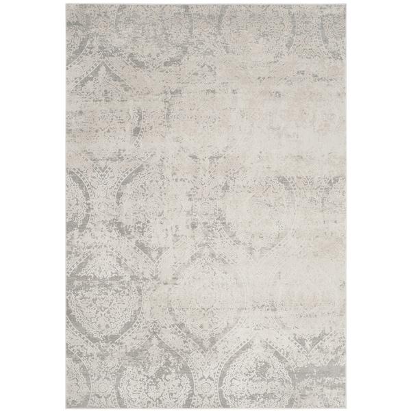 8x10 Area Rugs Gray And White: Safavieh Princeton Vintage Grey / Beige Distressed Rug