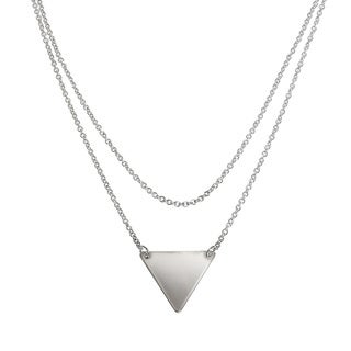 Eternally Haute High-polished Layered Triangle Necklace