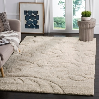 Safavieh Florida Shag Ultimate Cream Rug (9' x 12')