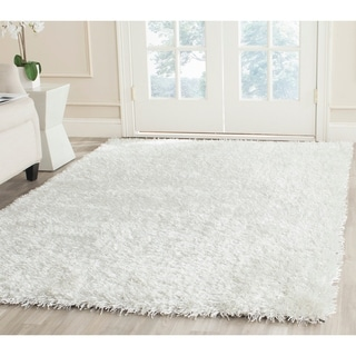 Safavieh Handmade New Orleans Shag Off-White Textured Polyester Area Rug (9' x 12')