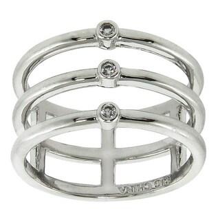 Eternally Haute Pave Ice Tri Ring