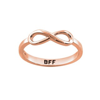 Eternally Haute 14k Rose Goldplated Sterling Silver BFF Infinity Ring