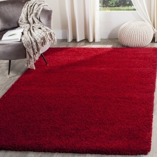 Safavieh Santa Monica Shag Red Rug (7' x 10')
