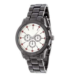 Fortune NYC Black Alloy Case w/ Stainless Steel Back and Alloy Strap Watch