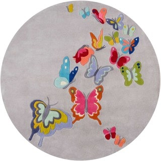 Hand-Tufted Momeni 'Lil Mo Butterfly Garden Polyester Rug (5' x 5')
