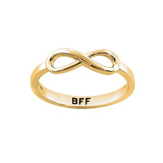 Eternally Haute 14k Goldplated Solid Sterling Silver BFF Infinity Ring - Yellow (More options available)