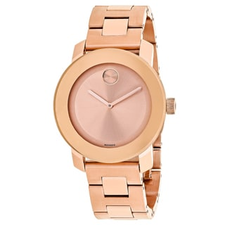 Movado Women's 3600342 Bold Round Rose Gold dial Stainless steel bracelet Watch