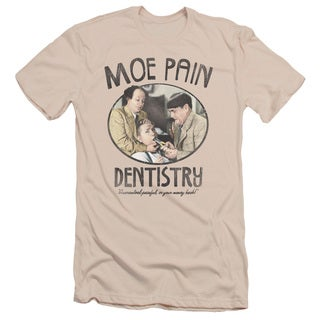 Three Stooges/Moe Pain Short Sleeve Adult T-Shirt 30/1 in Cream/Ivory