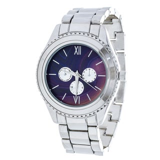 Brooklyn Exchange Marbleized Purple Dial w/ Silver Case Watch