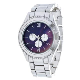 Brooklyn Exchange Marbleized Purple Dial w/ Silver Case Watch|https://ak1.ostkcdn.com/images/products/12661186/P19449000.jpg?impolicy=medium