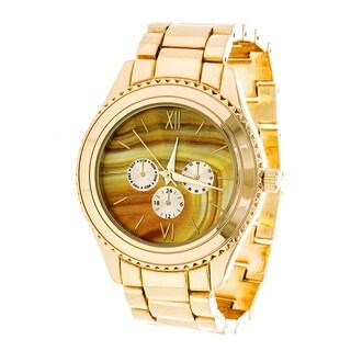 Brooklyn Exchange Marbleized Yellow Dial w/ Gold Case Watch