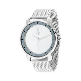Brooklyn Exchange White Dial w/ Silver Case and Mesh Strap Watch