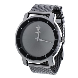Brooklyn Exchange Grey Dial w/ Black Case and Mesh Strap Watch