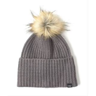 Echo Design Womens Stretch Fleece Cuff Hat with Fur Pom