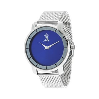 Brooklyn Exchange Blue Dial w/ Silver Case and Mesh Strap Watch