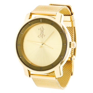 Brooklyn Exchange Gold Dial w/ Gold Case and Mesh Strap Watch