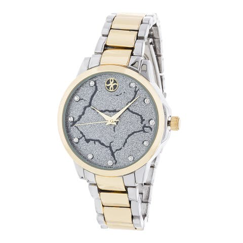 Fortune NYC Gold Alloy Case and Silver Strap w/ Broken Dial Design Watch