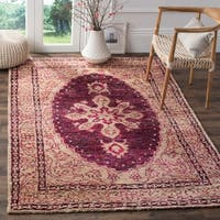 Safavieh Hand-Knotted Tangier Fuchsia / Beige Wool Rug - 8' x 10'