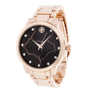 Fortune NYC Rose Gold Alloy Case and Strap w/ Broken Dial Design Watch