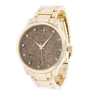 Fortune NYC Gold Alloy Case and Strap w/ Broken Dial Design Watch