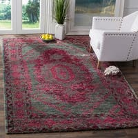 Safavieh Hand-Knotted Tangier Slate Blue / Fuchsia Wool Rug - 8' x 10'