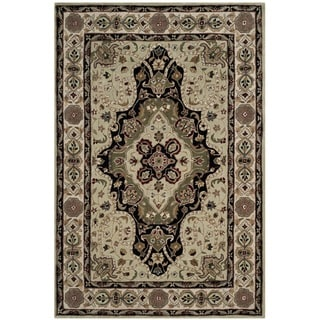 Safavieh Hand-hooked Total Performance Soft Green / Ivory Acrylic Rug (8' x 10')