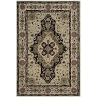 Safavieh Hand-hooked Total Performance Soft Green / Ivory Acrylic Rug - 8' x 10'